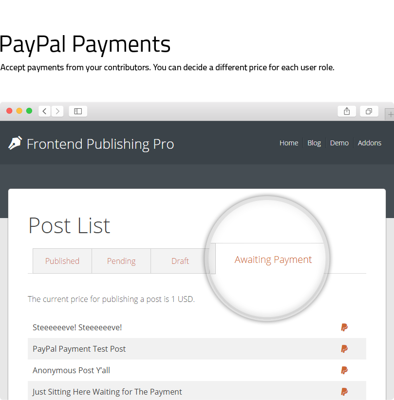 Frontend Publishing Pro - WordPress User Submission Plugin - 4